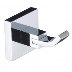 Bristan Square Brass Robe Hook, Chrome Plated