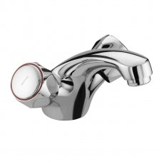 Bristan Value Club Mono Basin Mixer Tap Without Waste Chrome Plated & Metal Heads