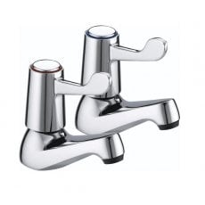 Bristan Value Lever Basin Taps 76mm Levers Chrome Plated