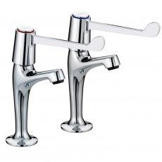 Bristan Value Lever Kitchen Sink Taps, 6 Inch Handles, Chrome