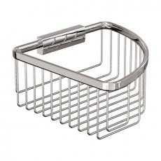 Britton Deep Corner Wire Soap Basket - Chrome