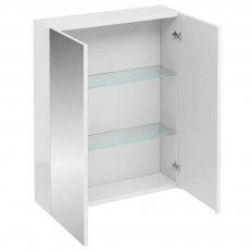Britton 2-Doors Mirrored Bathroom Cabinet 750mm H x 600mm W - White