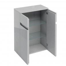 Britton D30 2-Door Freestanding Storage Unit 600mm - Light Grey