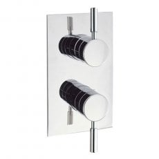 Britton Elegante Thermostatic Dual Concealed Shower Valve with Single Outlet - Chrome