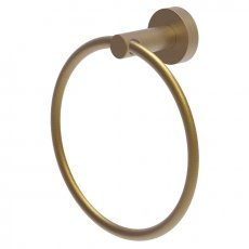 Britton Hoxton Wall Mounted Towel Ring - Brushed Brass