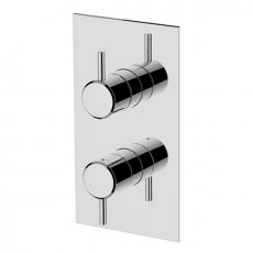 Britton Hoxton Thermostatic Dual Concealed Shower Valve with Diverter - Chrome