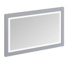 Burlington 120 Fitted Framed LED Bathroom Mirror 750mm High x 1200mm Wide - Classic Grey