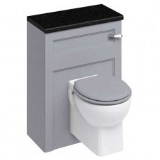 Burlington 60 Wall Hung Toilet with WC Unit and Cistern - Classic Grey - Excluding Seat