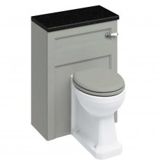 Burlington 60 Back to Wall Toilet with WC Unit and Cistern Dark Olive - Excluding Seat