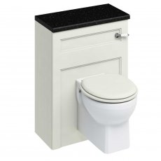 Burlington 60 Wall Hung Toilet with WC Unit and Cistern Sand - Excluding Seat