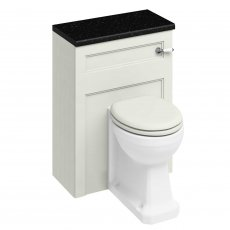 Burlington 60 Back to Wall Toilet with WC Unit and Cistern Sand - Excluding Seat