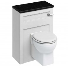 Burlington 60 Wall Hung Toilet with WC Unit and Cistern - Matt White - Excluding Seat