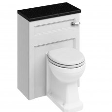Burlington 60 Back to Wall Toilet with WC Unit and Cistern Matt White - Excluding Seat