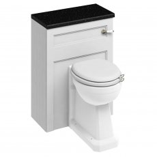 Burlington 60 Regal Back to Wall Toilet with WC Unit and Cistern Matt White - Excluding Seat