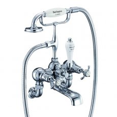 Burlington Anglesey Bath Shower Mixer Tap, Wall Mounted, Chrome