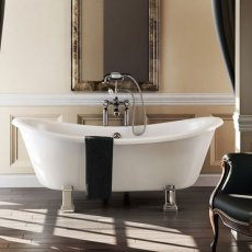 Burlington Bateau Traditional Roll Top Freestanding Slipper Bath 1640mm x 700mm - Excluding Feet