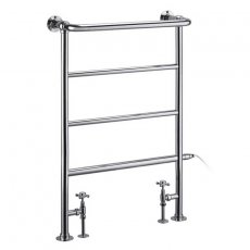 Burlington Berkeley Towel Rail with Valves 950mm H x 640mm W - Chrome