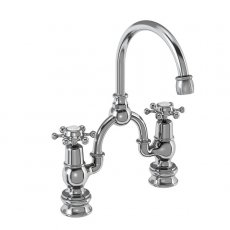 Burlington Birkenhead Regent 2-Hole Arch Basin Mixer Tap Chrome - 200mm Centres