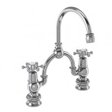 Burlington Birkenhead Regent 2-Hole Arch Basin Mixer Tap Chrome - 230mm Centres