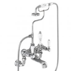 Burlington Kensington Regent Bath Shower Mixer Tap, Wall Mounted, Chrome