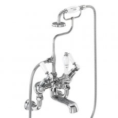 Burlington Kensington Regent Angled Bath Shower Mixer Tap, Wall Mounted, Chrome