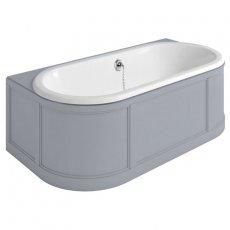 Burlington London Back to Wall Surround Acrylic Bath 1800mm x 950mm - Grey