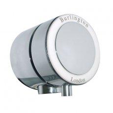 Burlington Overflow Bath Filler For Single Ended Bath - Chrome/White