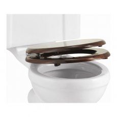 Burlington Standard Moulded Wood Toilet Seat, Soft Close Hinges, Mahogany