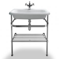 Burlington Traditional Natural Stone Basin and Wash Stand, 750mm Wide, 0 Tap Hole