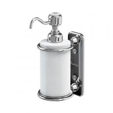 Burlington Traditional Single Soap Dispenser, Wall Mounted, White/Chrome