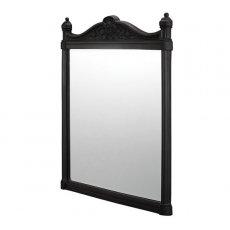 Burlington Traditional Framed Bathroom Mirror, 750mm High x 553mm Wide, Black
