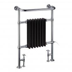 Burlington Trafalgar Radiator Towel Rail 950mm High x 640mm Wide - Black
