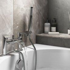 Cali Alia Bath Shower Mixer with Handset Lead Free - Chrome