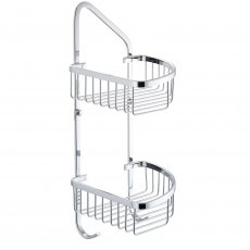Cali Rounded Corner Double Wire Soap Basket - Chrome