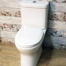 Cali Breeze Rimless Close Coupled Toilet - Soft close Seat