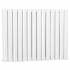 Cali Celsius Double Panel Designer Horizontal Radiator - 633mm High x 826mm Wide - White
