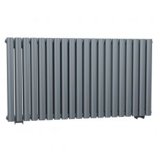 Cali Celsius Double Panel Designer Horizontal Radiator - 633mm High x 1180mm Wide - Anthracite