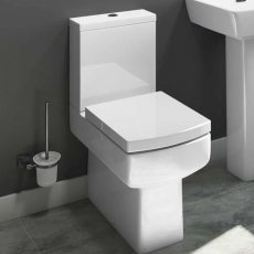 Cali Daisy Lou Close Coupled Toilet with Push Button Cistern - Slimline Seat