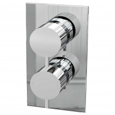 Cali Delphin Round Concealed Shower Valve - Dual Handle - Chrome