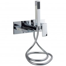 Cali Dunk Wall Mounted Bath Shower Mixer with Handset - Chrome