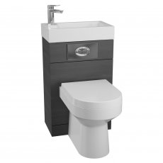 Cali Futura WC Basin Pack with Montego Toilet Pan and Seat - Black Ash