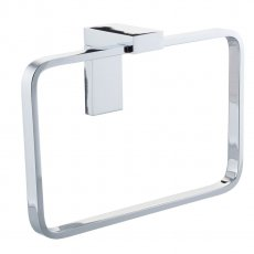 Cali Holly Bathroom Towel Ring - Chrome