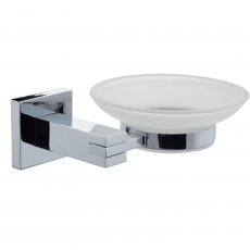 Cali Iris Soap Dish and Holder - Chrome