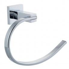 Cali Iris Bathroom Towel Ring - Chrome