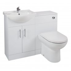 Cali Kass Devon Combination Unit with Left Handed Basin - 1025mm Wide - Gloss White