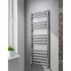 Cali Luxe Straight Heated Towel Rail 1600mm H x 600mm W Stainless Steel