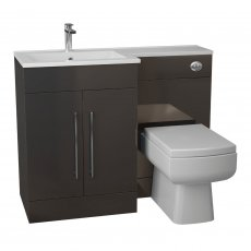 Cali Maze L Shaped Combination Unit with LH Thin Edge Basin - 1090mm Wide - Anthracite