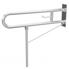 Cali Drop Down Mobility Grab Rail - Satin Stainless Steel