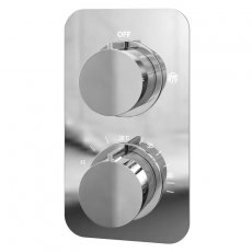 Cali Moderno Thermostatic Concealed Shower Valve Single Function - Chrome