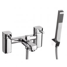 Cali Nero Bath Shower Mixer Tap - Deck Mounted - Chrome